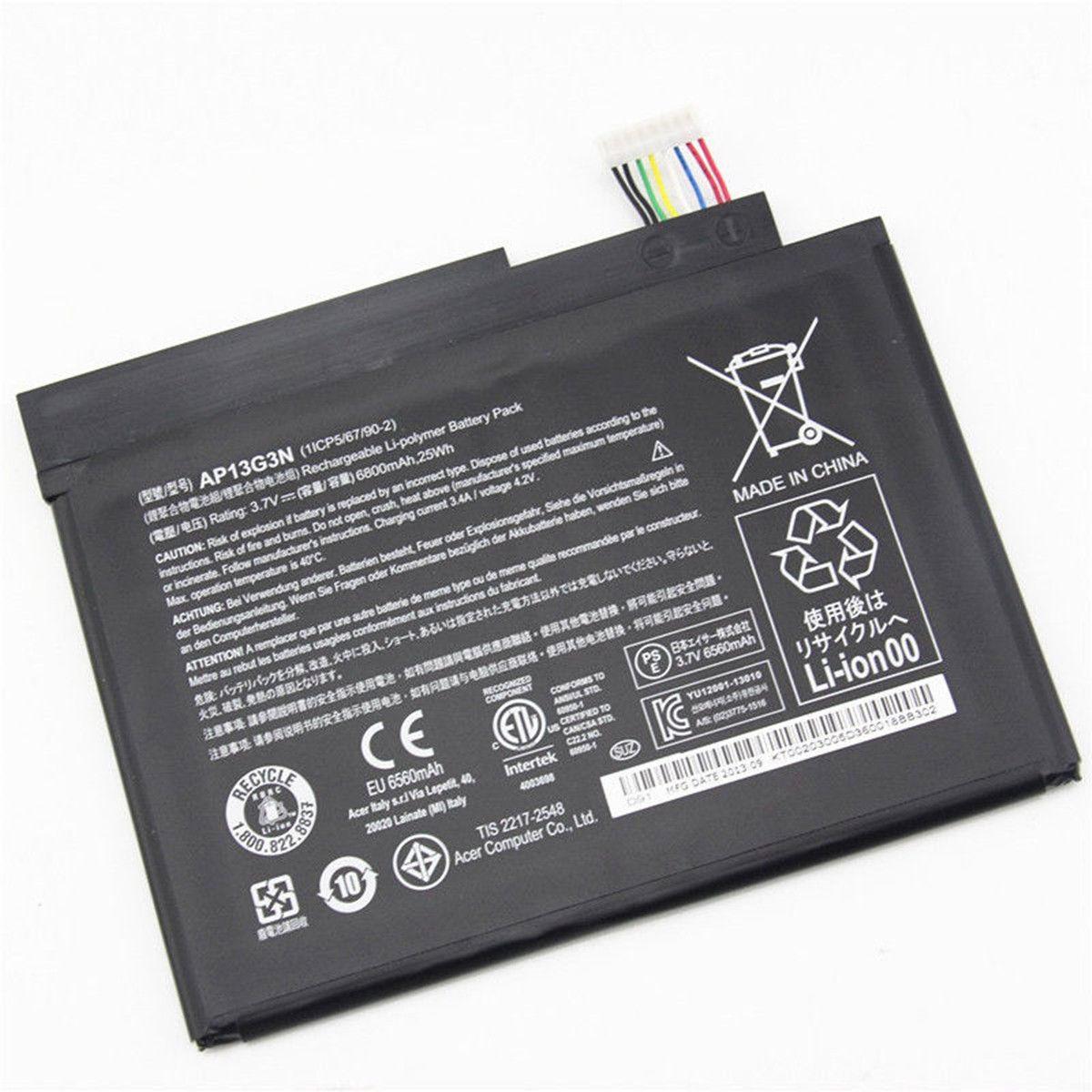 Аккумулятор Acer AP13G3N 3.7V Black 6800mAhr 25Wh Iconia W3-810 Tablet