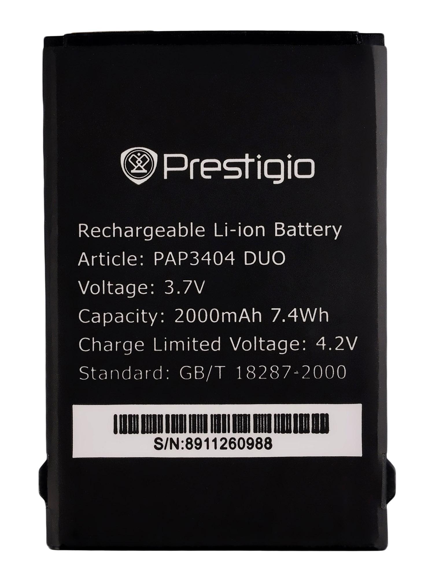 Аккумулятор к телефону Prestigio PAP3404 2000mAh