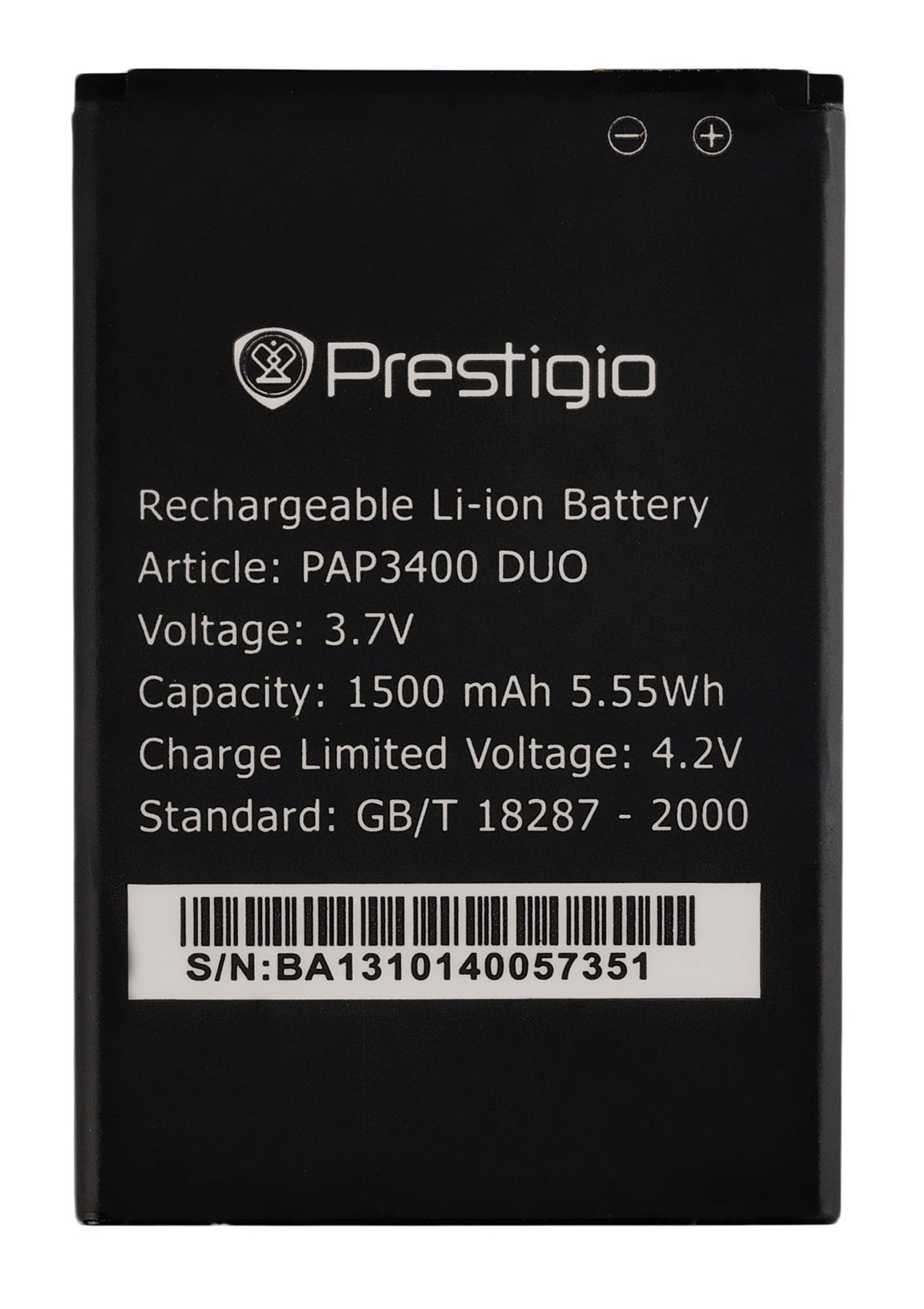Аккумулятор к телефону Prestigio PAP3400 1500mAh