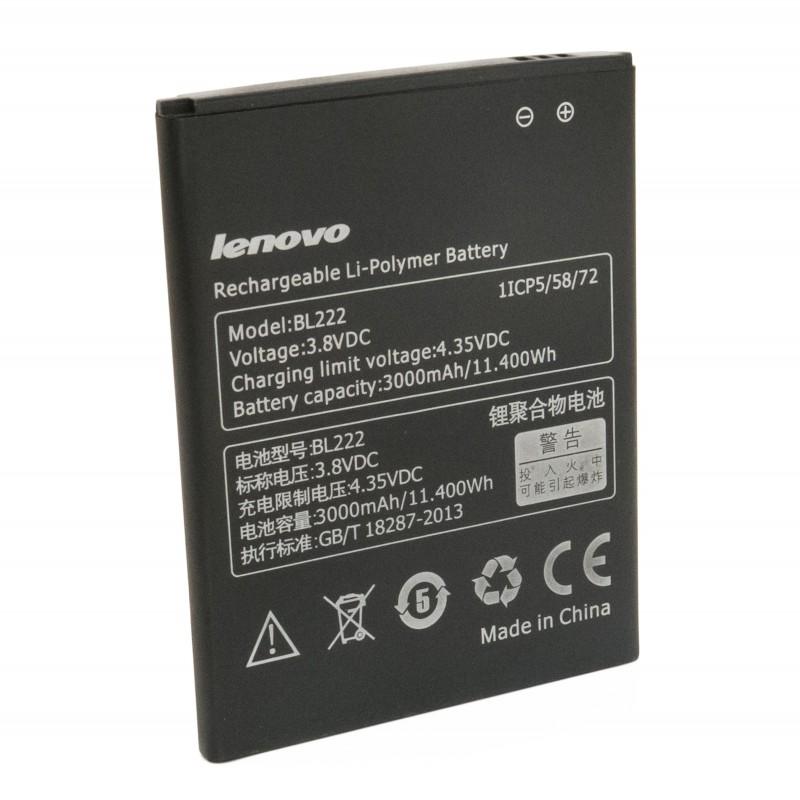 Аккумулятор к телефону Lenovo BL222 3000mAh